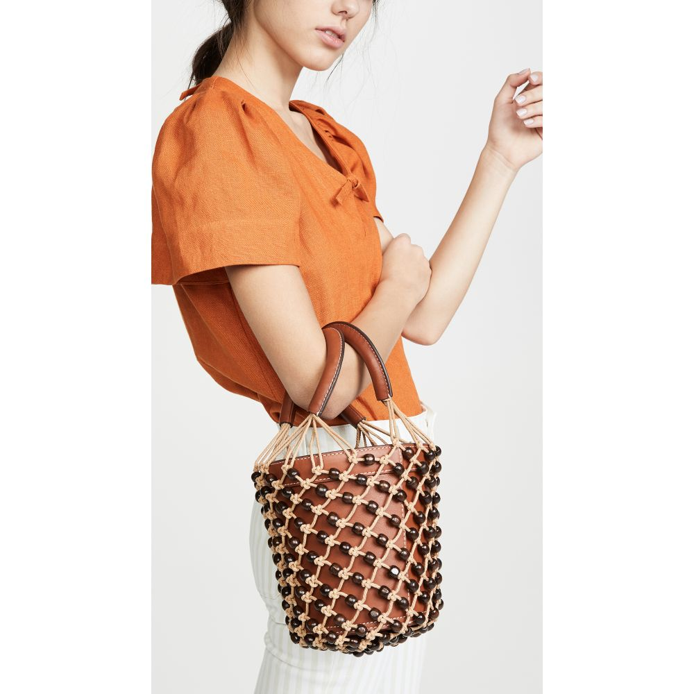 スタッド STAUD レディース バッグ レディース ハンドバッグ【Beaded Moreau バッグ Bag STAUD】Brown/Natural/Brown, BEAUTY LIFE online store:2da6c9b1 --- sunward.msk.ru