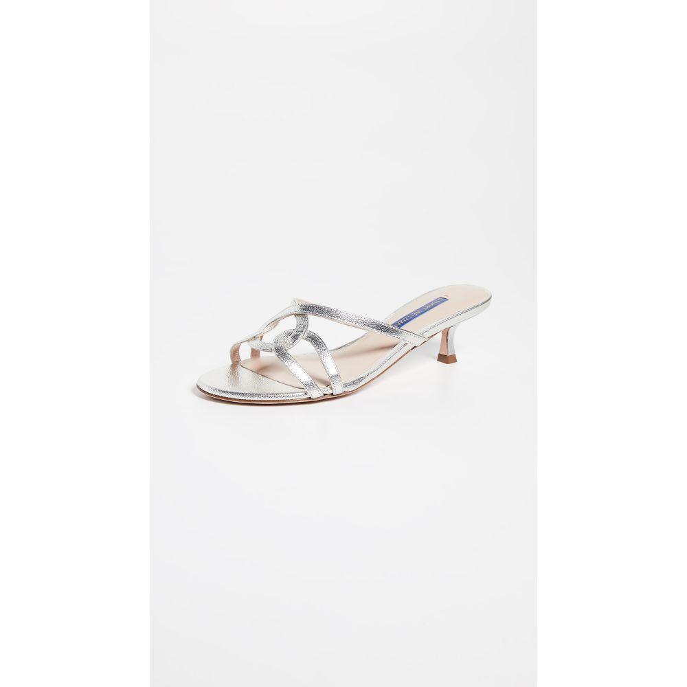 スチュアート ワイツマン Stuart Weitzman レディース シューズ・靴 サンダル・ミュール【Claudia Slides】Silver