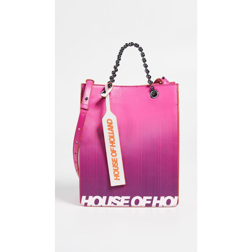 ハウス オブ ホーランド House of Holland レディース バッグ トートバッグ【Printed Mini Tote Bag】Pink/Purple
