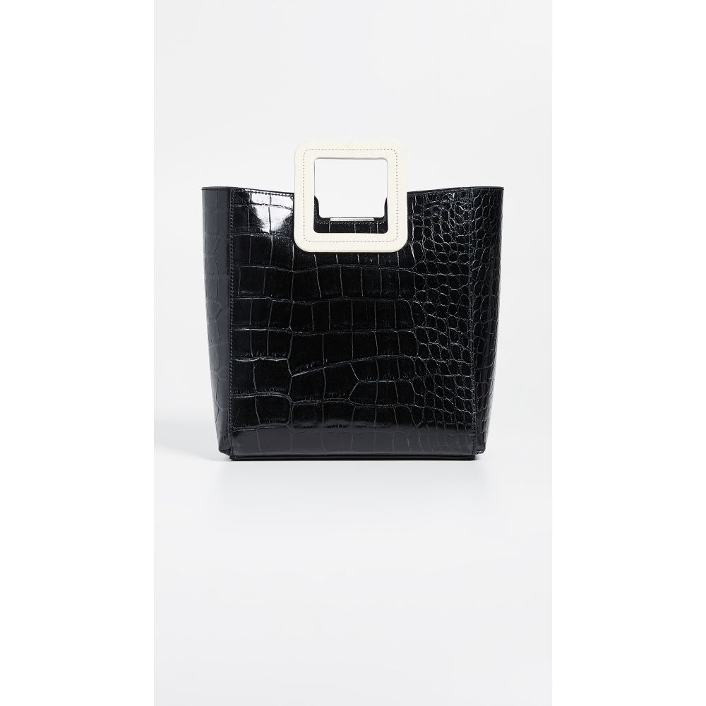 スタッド Bag】Black/Cream STAUD スタッド レディース バッグ ハンドバッグ【Shirley レディース Bag】Black/Cream, 新雪荘:742ba2e1 --- reinhekla.no