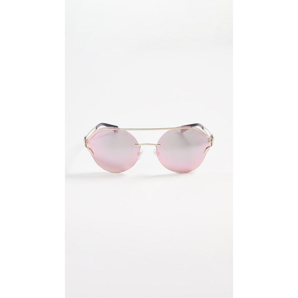 ヴェルサーチ Versace レディース メガネ・サングラス【Baroque Square Sunglasses】Pale Gold