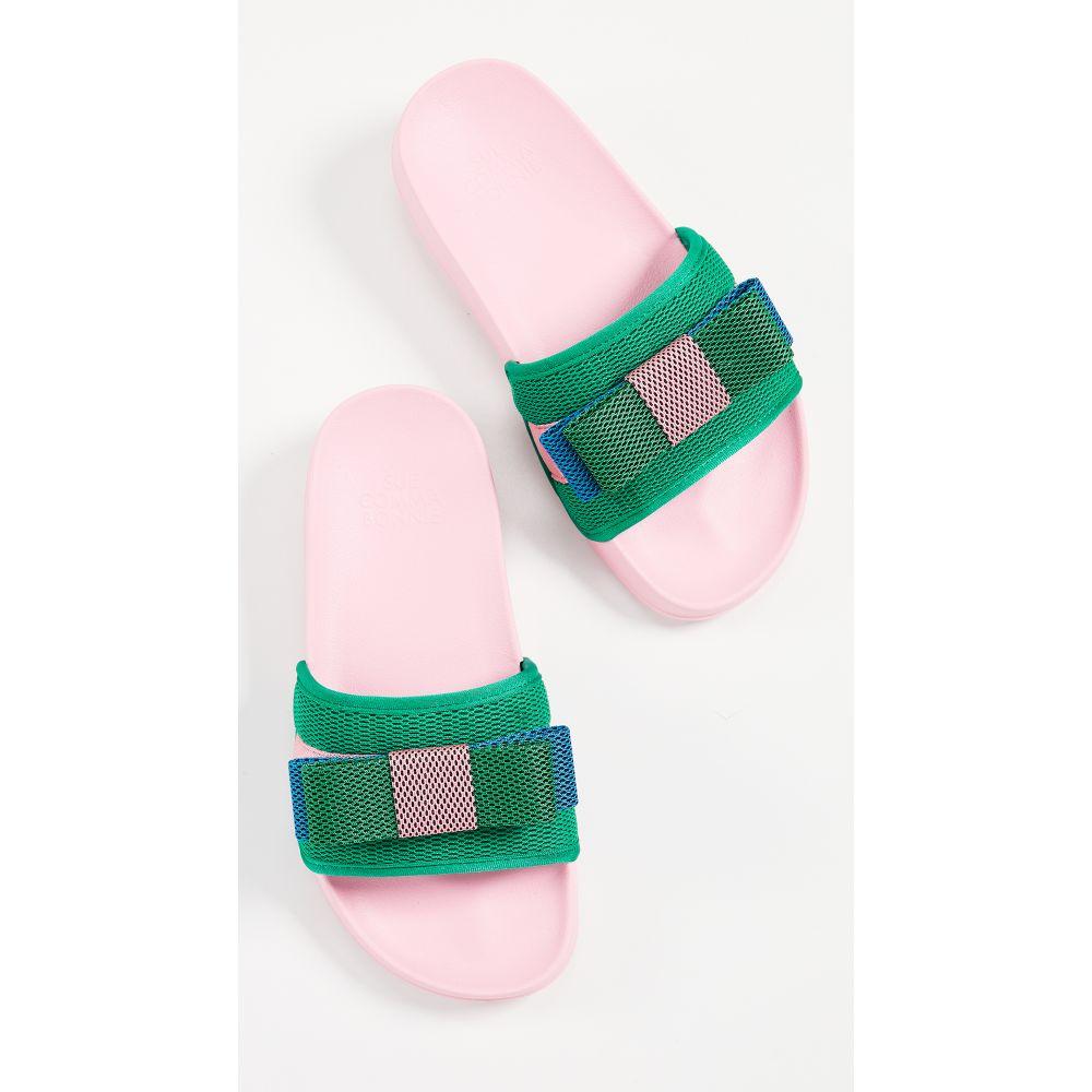 シューコンマボニー Suecomma Bonnie レディース シューズ・靴 サンダル・ミュール【Colorblock Ribbon Sandals】Pink