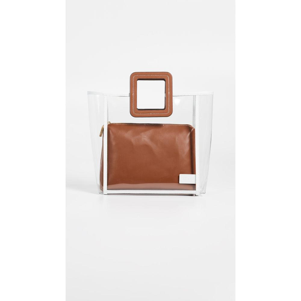 スタッド STAUD レディース バッグ【Framed Shirley Bag】Clear/Tan/Soft White