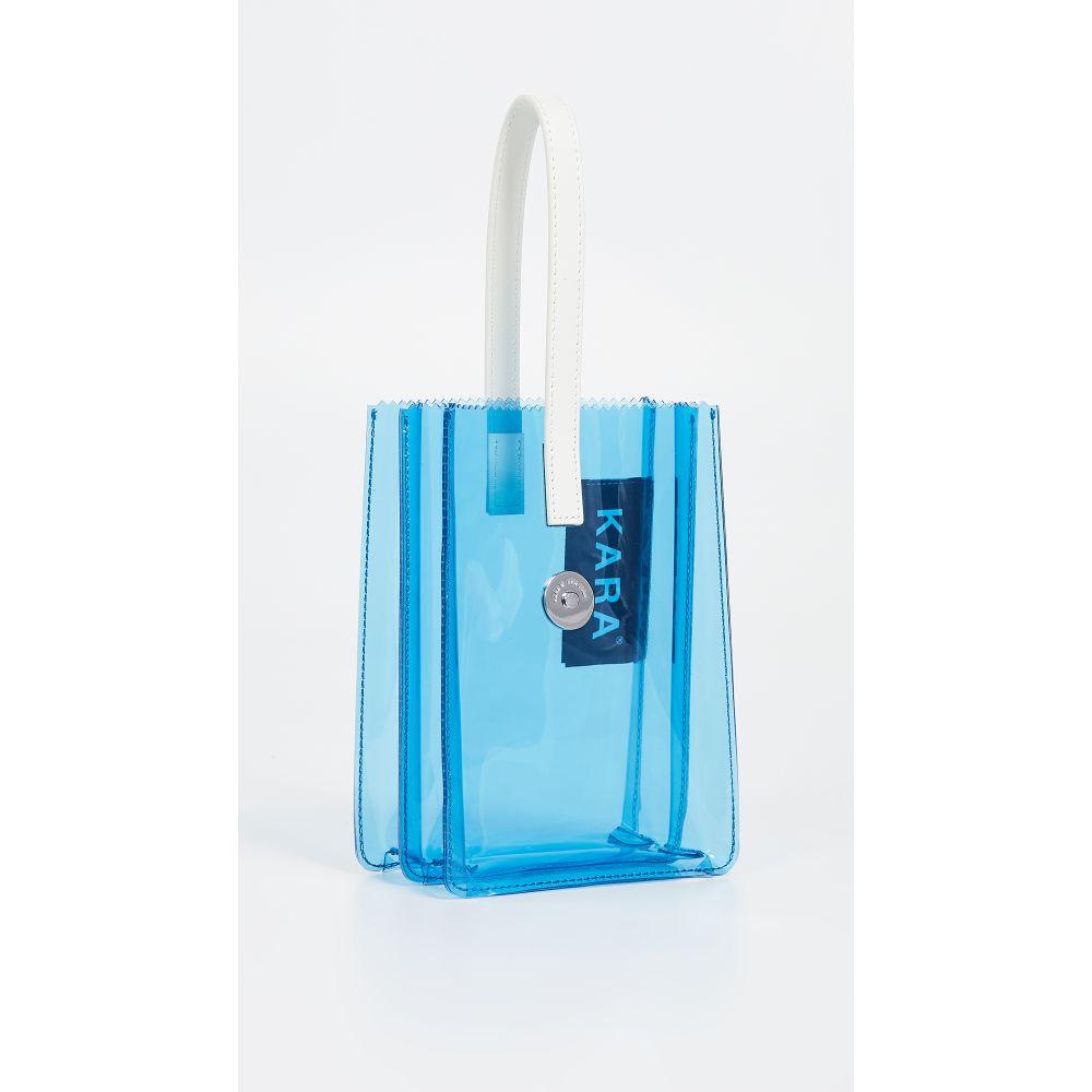 カラ KARA レディース バッグ【Pinch Wristlet】White/Blue