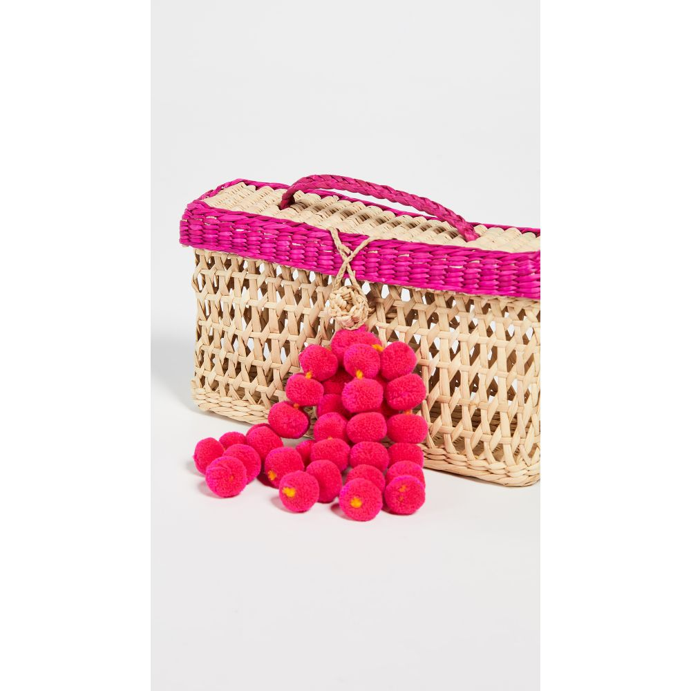 ナナカイ Nannacay レディース バッグ【Maka Pom Pom Bag】Pink