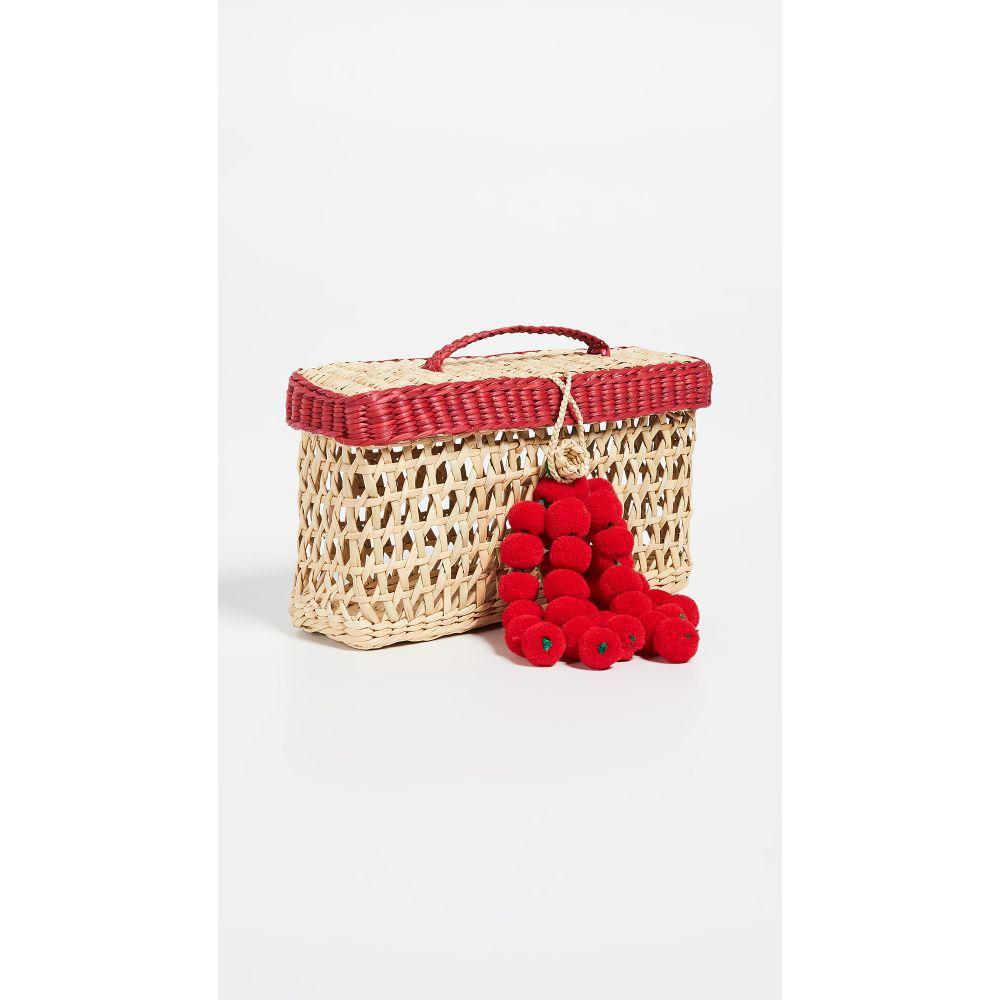 ナナカイ Nannacay レディース バッグ【Maka Pom Pom Bag】Red