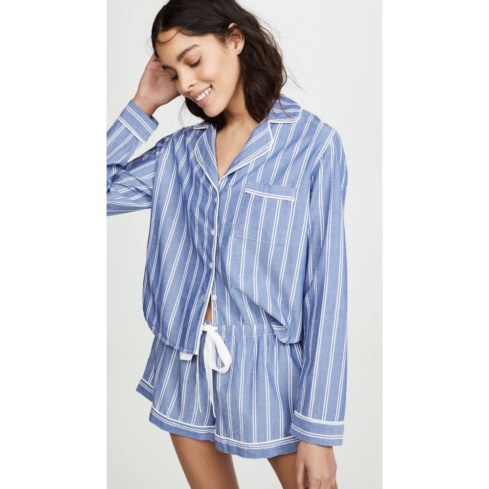 レイルズ RAILS レディース インナー・下着 パジャマ・上下セット【Long Sleeve PJ Set with Shorts】Romana Stripe