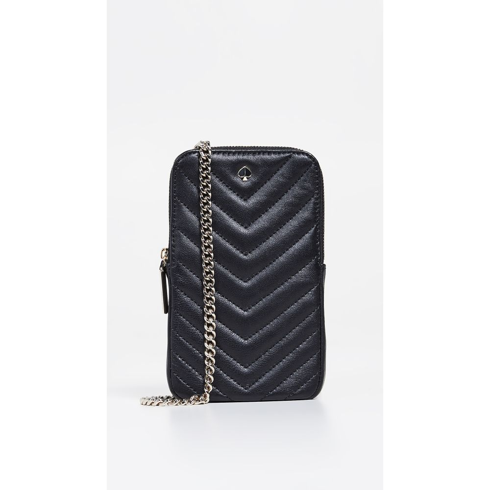 ケイト スペード Kate Spade New York レディース スマホケース【Amelia North South Phone Crossbody Bag】Black