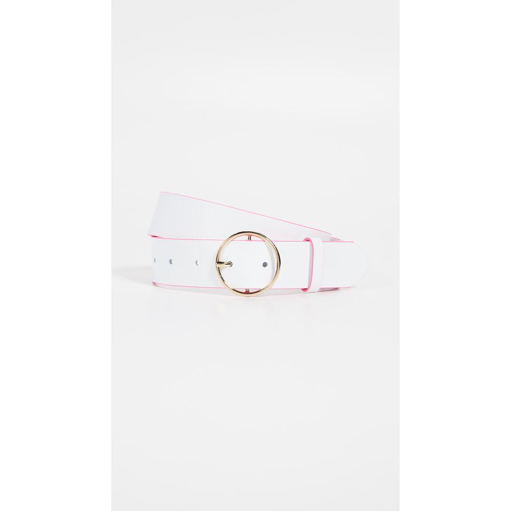メゾン ボワネ Maison Boinet レディース ベルト【35mm Color Contrast Leather Belt】White/Pink