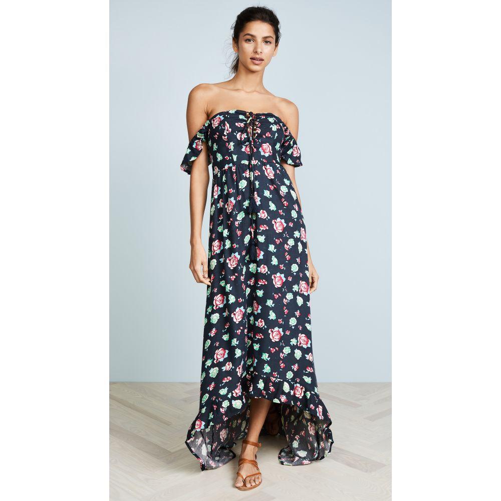 ティアレ ハワイ TIARE HAWAII レディース 水着・ビーチウェア ビーチウェア【Mia High Low Dress】Garden Rose Charcoal