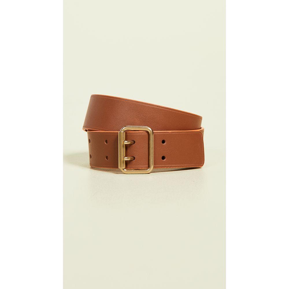 メゾン ボワネ Maison Boinet レディース ベルト【30mm Color Contrasting Leather Belt】Havana/Orange