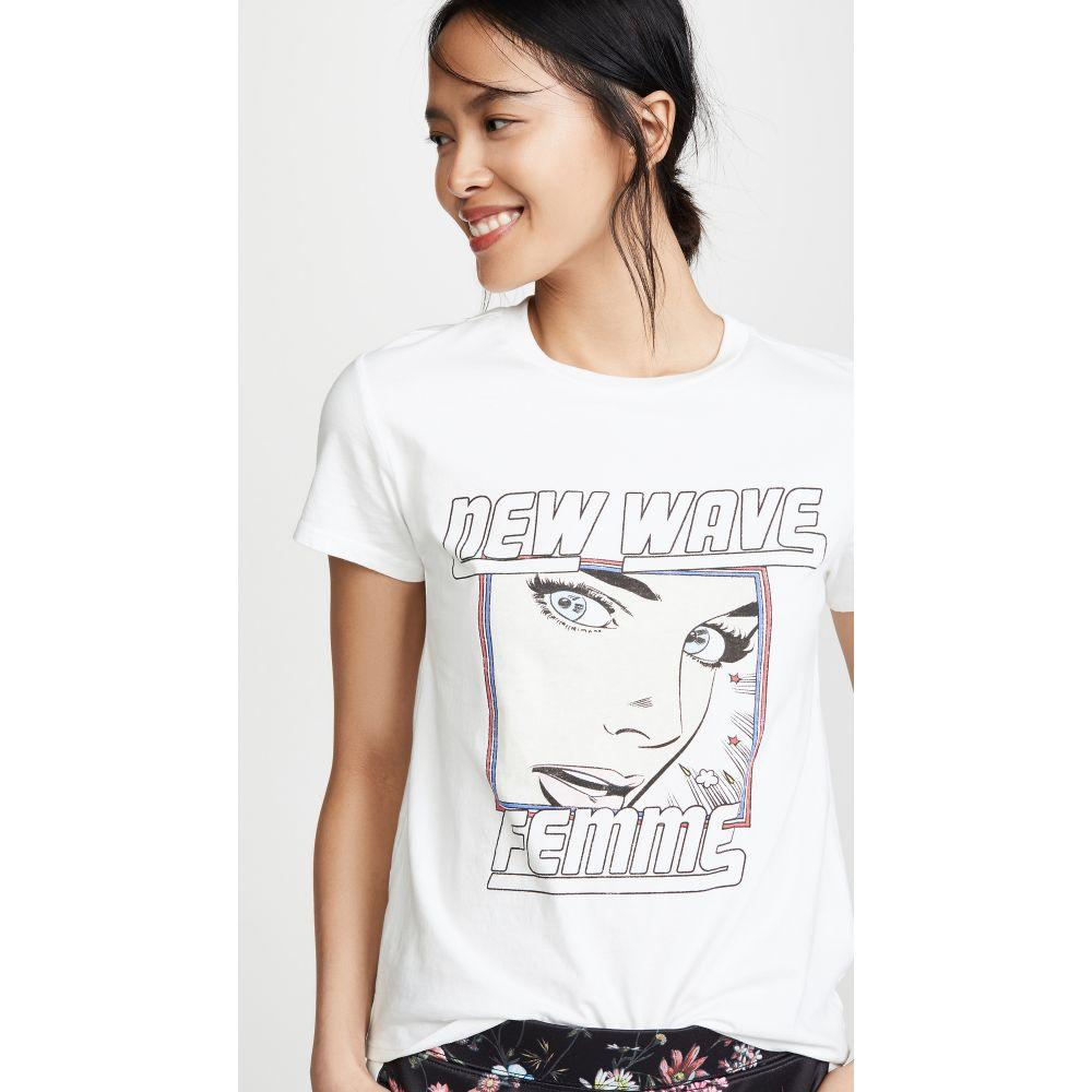 パム&ジェラ Pam & Gela レディース トップス Tシャツ【New Wave Logo Tee】White
