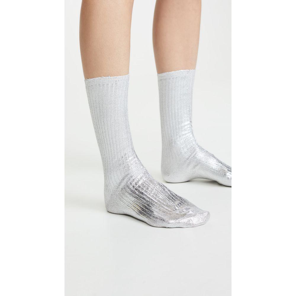 最安値 アクネ ストゥディオズ Acne Studios レディース インナー・下着 ソックス【Tabi Socks】Silver, 品質が完璧 929463cc