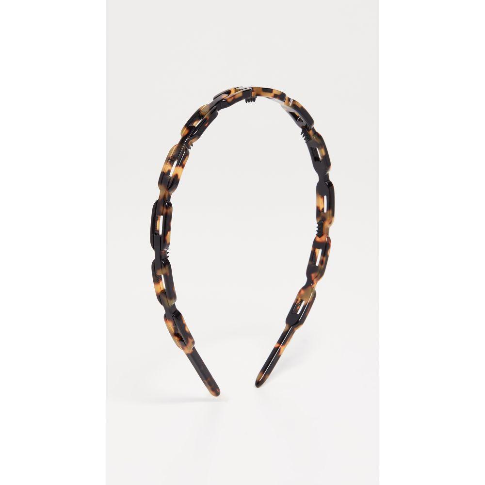 アレクサンドル ドゥ パリ Alexandre de Paris レディース ヘアアクセサリー【Link Headband】Brown Tort