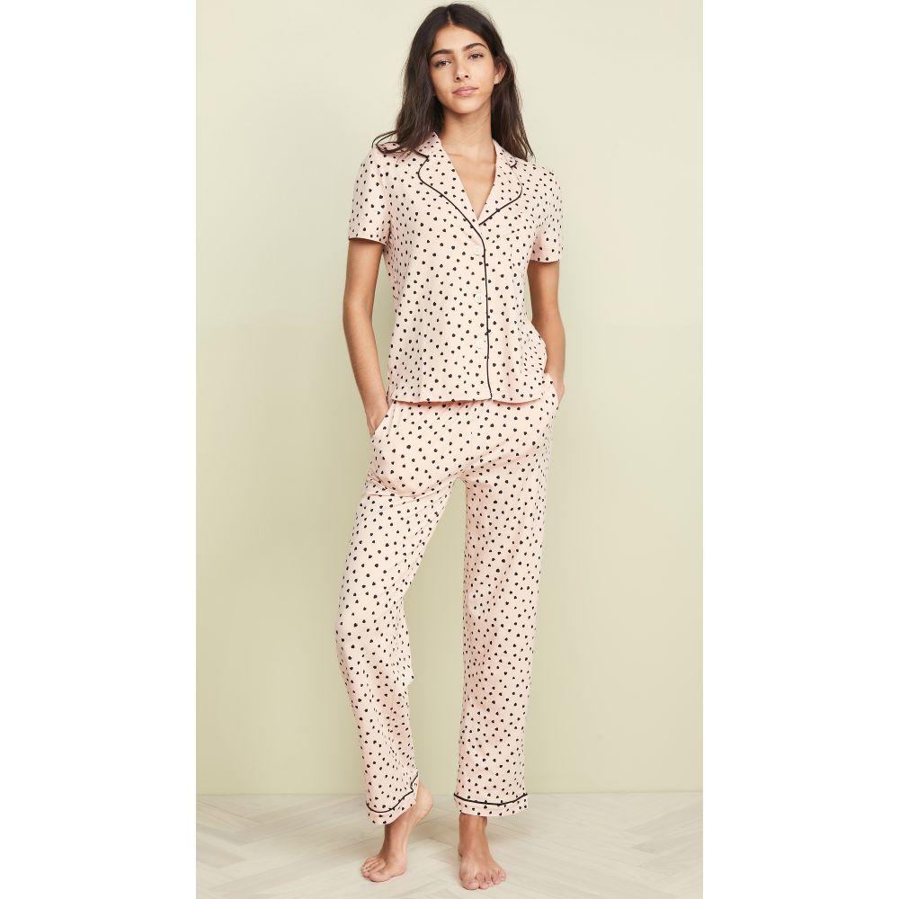 メイドウェル Madewell レディース インナー・下着 パジャマ・上下セット【Knit Bedtime Pajama Set in Painted Hearts】Bashful Blush Multi