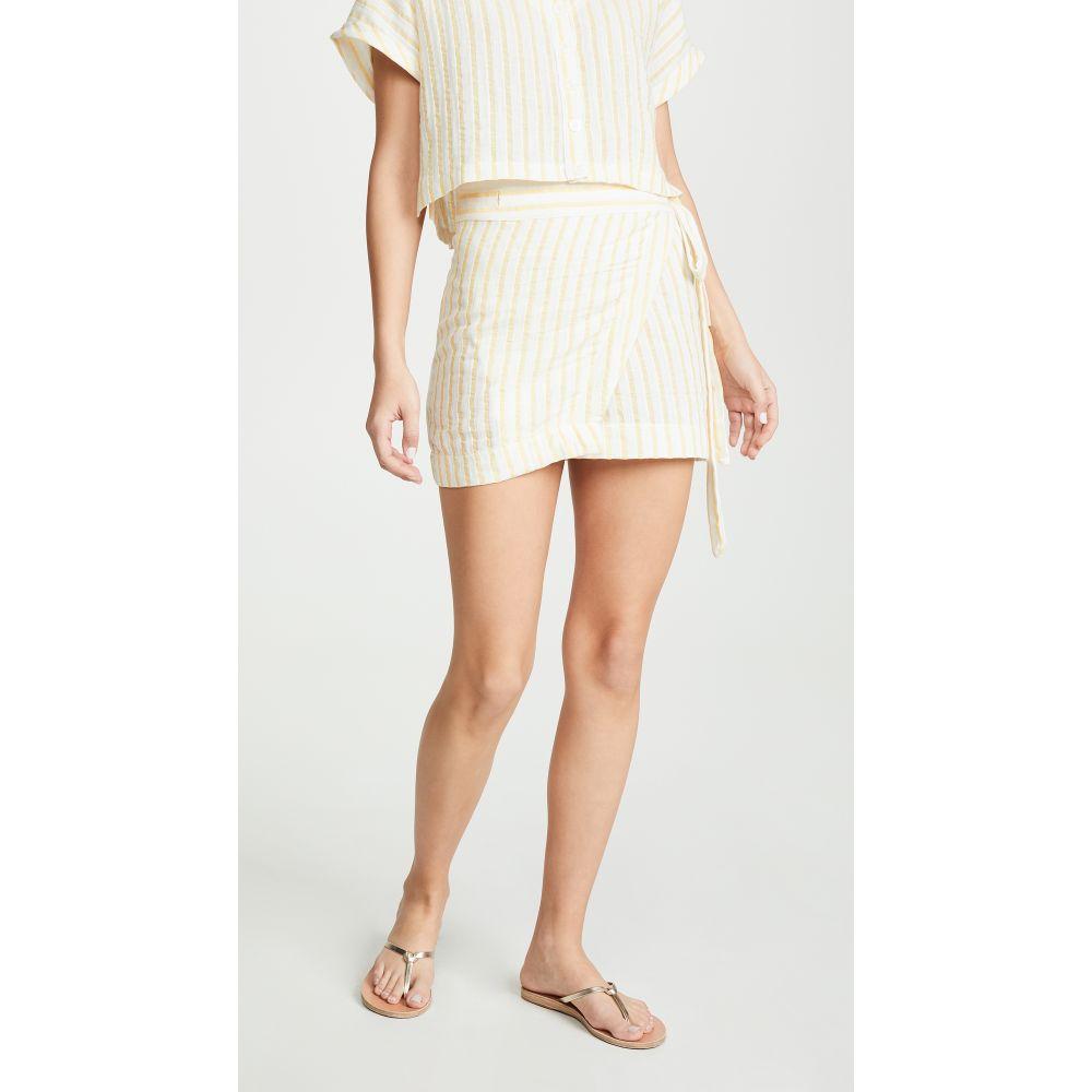 プラッシュ Plush レディース 水着・ビーチウェア ビーチウェア【Striped Linen Wrap Skirt】Marigold