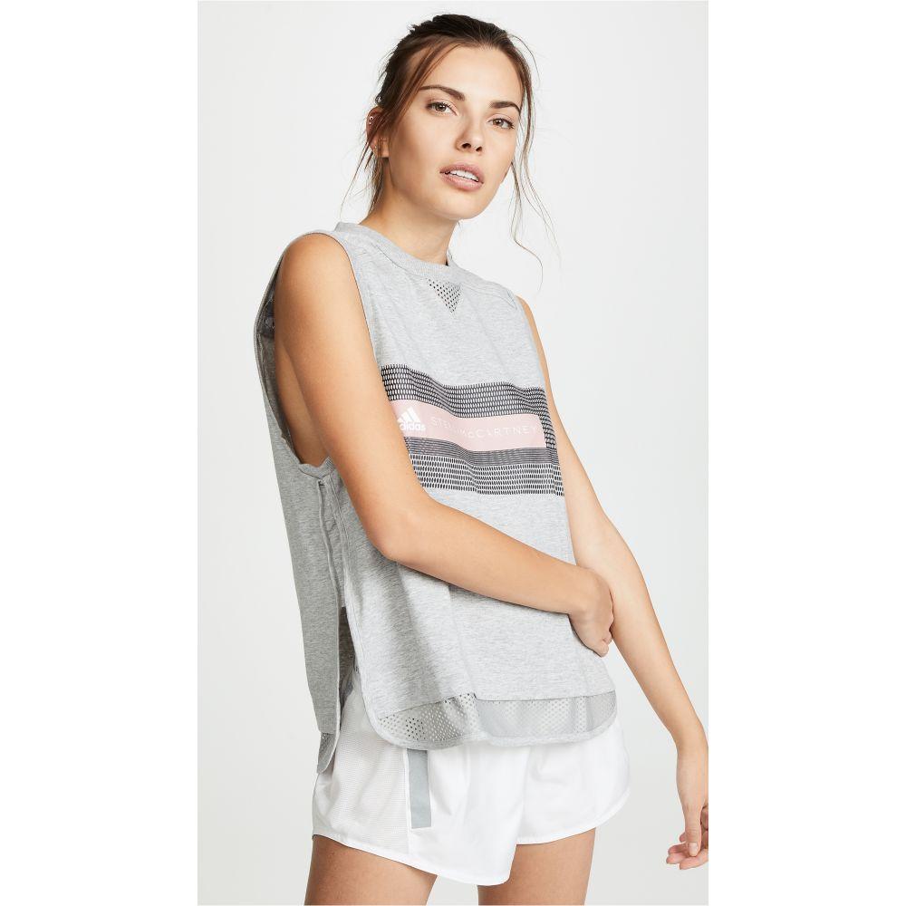 アディダス adidas by Stella McCartney レディース トップス タンクトップ【Logo Tank】Medium Grey Heather
