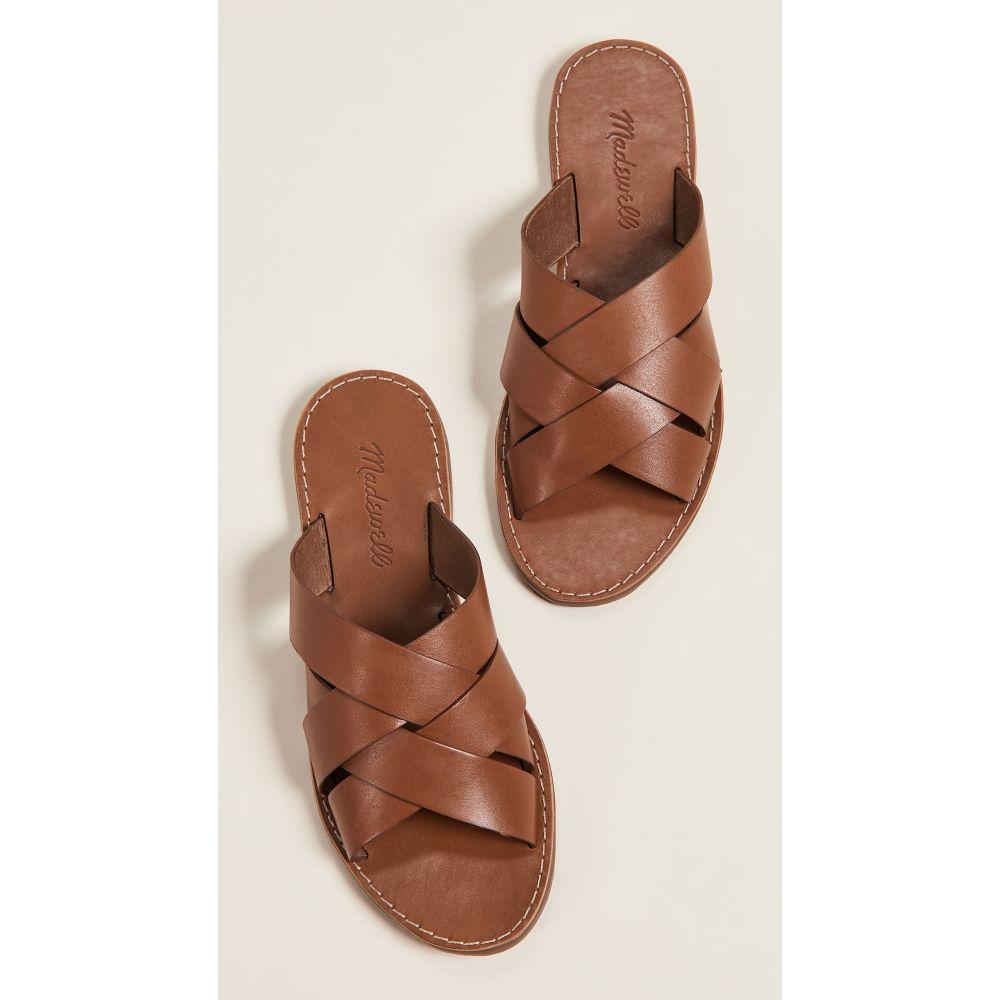 メイドウェル Madewell レディース シューズ・靴 サンダル・ミュール【The Boardwalk Woven Slide Sandals】English Saddle