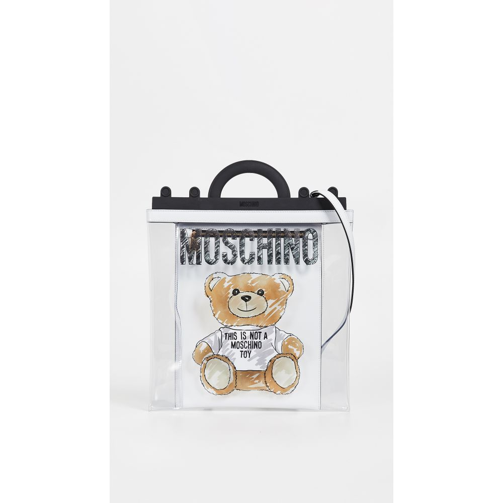モスキーノ Moschino レディース バッグ【New Teddy Shopping Bag】Fantasy Print White