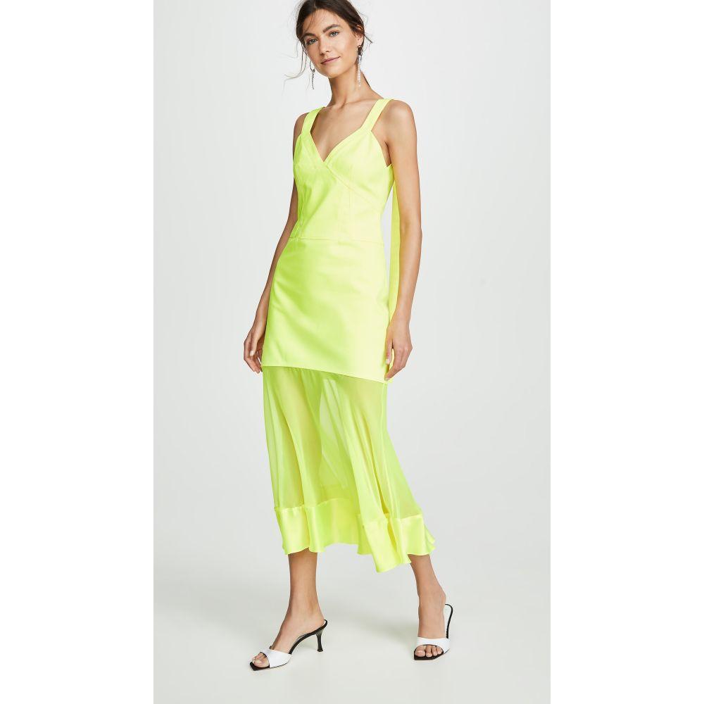 プラバル グルン Prabal Gurung レディース ワンピース・ドレス ワンピース【Maghi Combo Tank Dress】Neon Yellow