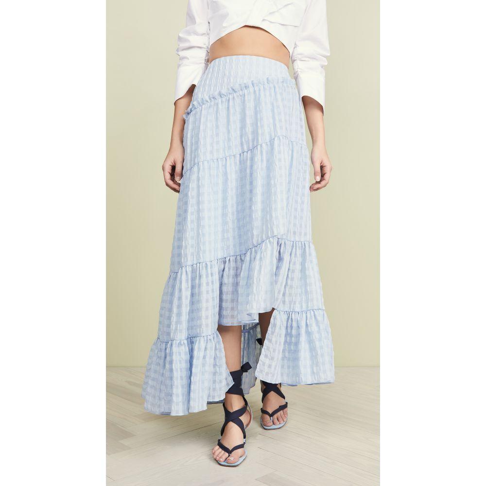 スリーワン フィリップ リム 3.1 Phillip Lim レディース スカート【Full Tiered Skirt】Oxford Blue