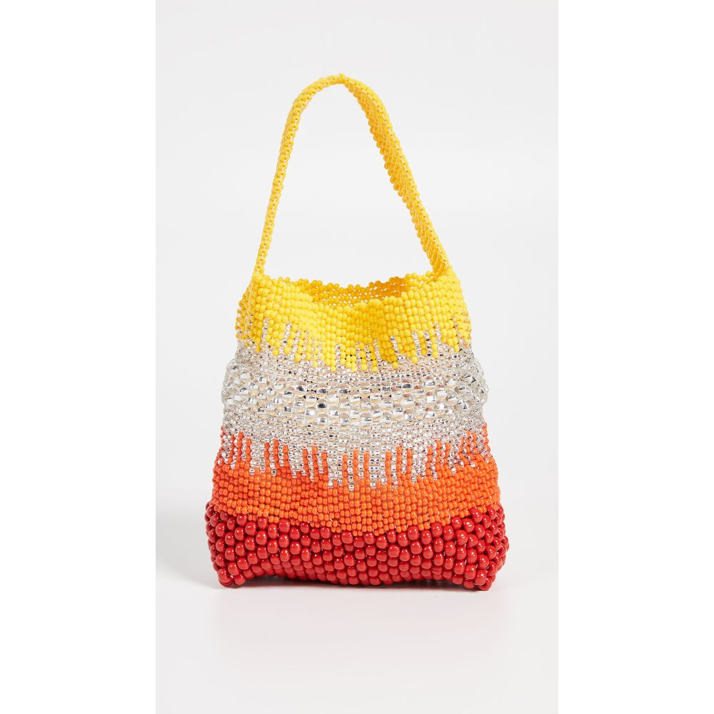 トラス Truss レディース バッグ【Beaded Party Bag】Red/Yellow