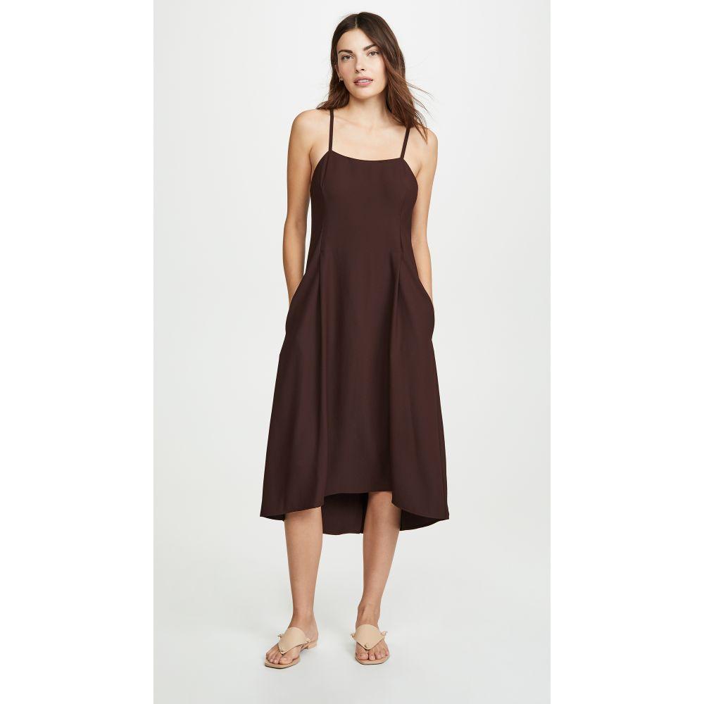 ヴィンス Vince レディース ワンピース・ドレス ワンピース【Strappy Tank Dress】Black Walnut