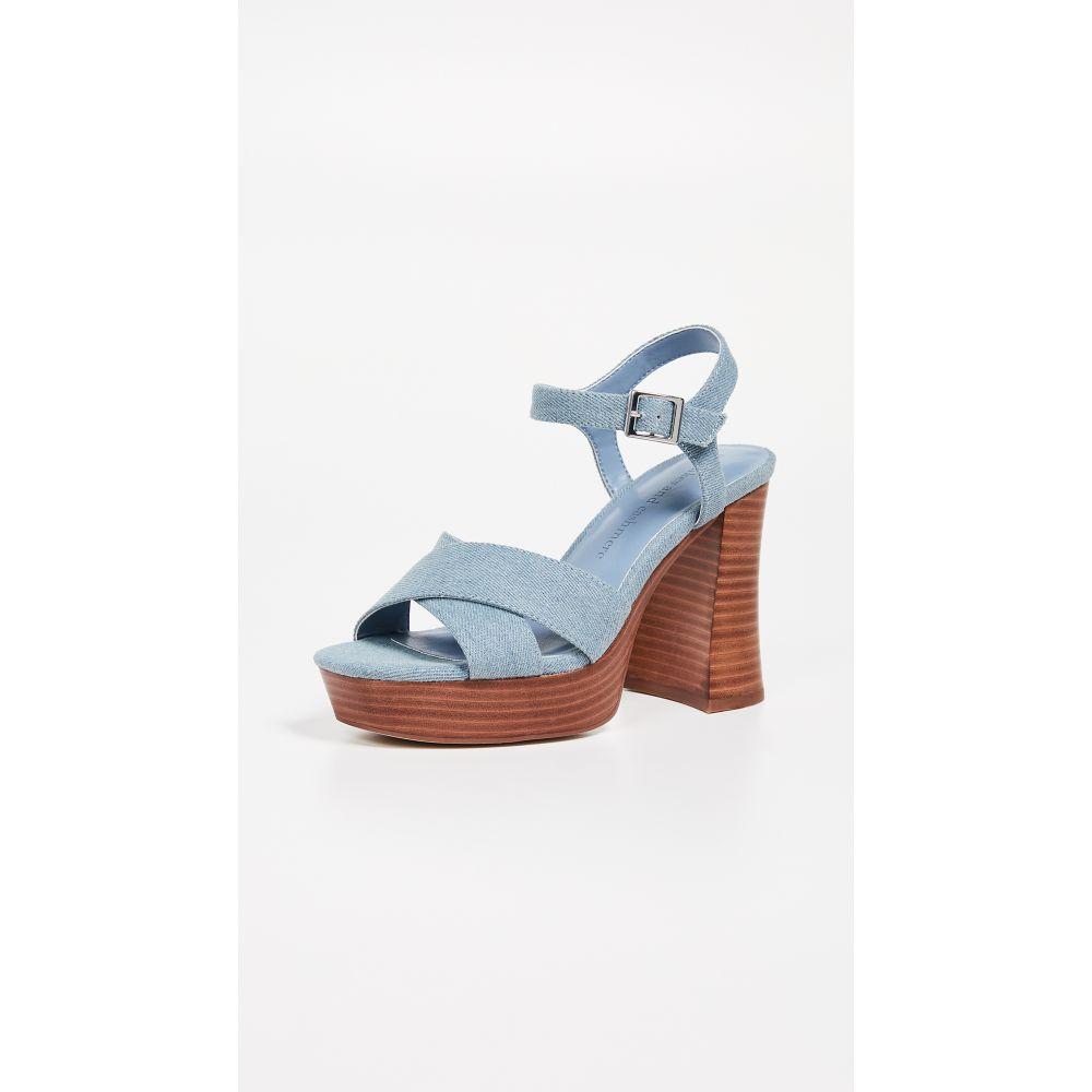 カップケーキ アンド カシミア cupcakes and cashmere レディース シューズ・靴 サンダル・ミュール【Harmon Platform Sandals】Blue Denim