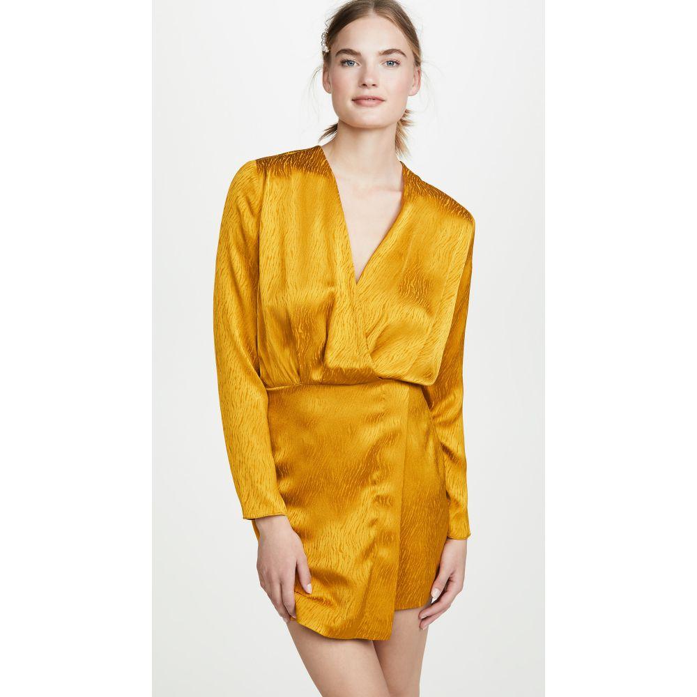 クシュニーエオクス Cushnie レディース ワンピース・ドレス ワンピース【Mini Dress with Blouson Top】Antique Gold
