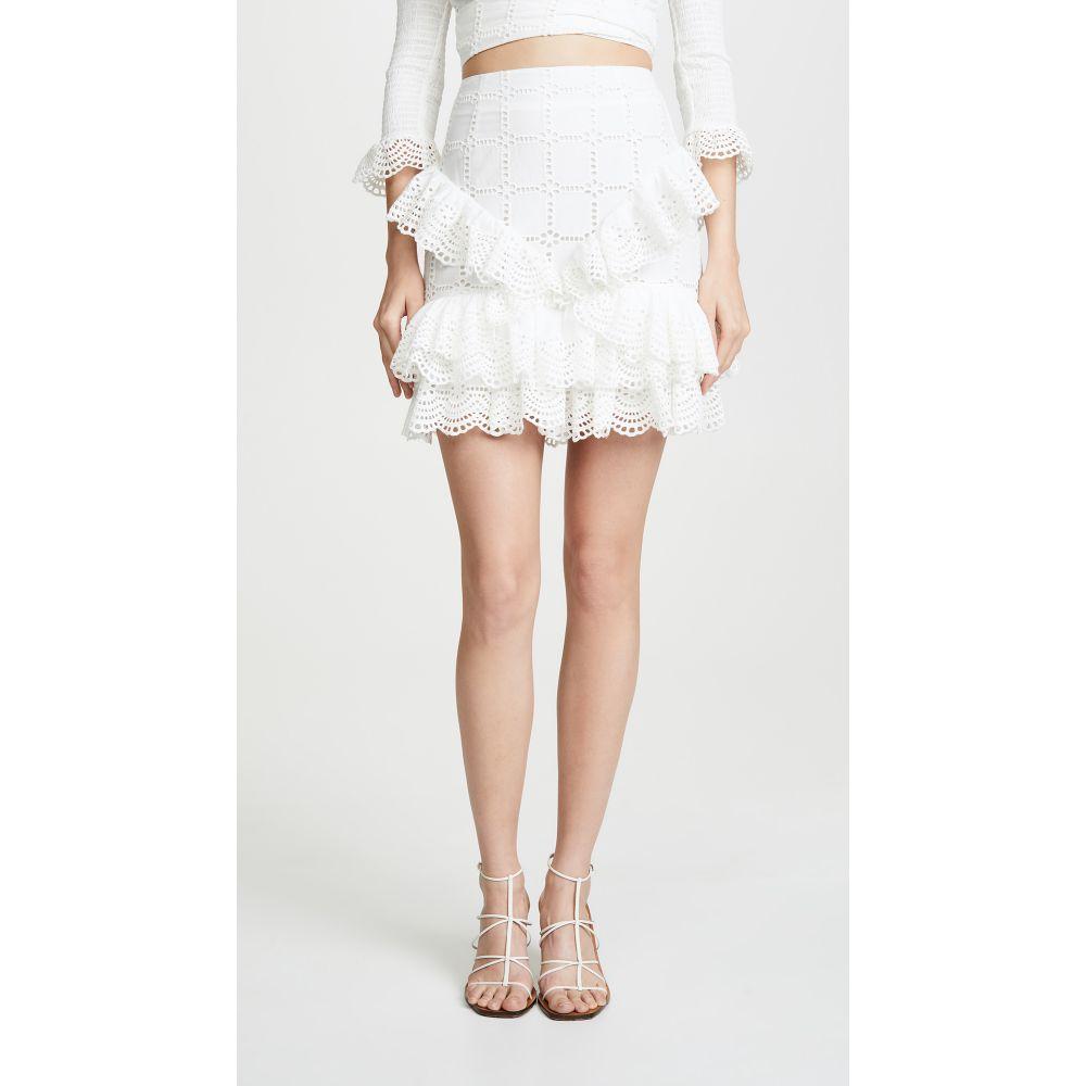 サーリー THURLEY レディース スカート ミニスカート【Raven Miniskirt】Ivory