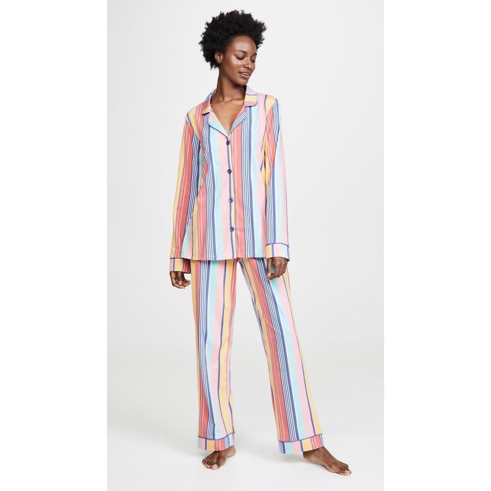 ベッドヘッド BedHead Pajamas レディース インナー・下着 パジャマ・上下セット【Seaside Stripe Classic PJ Set】Multi