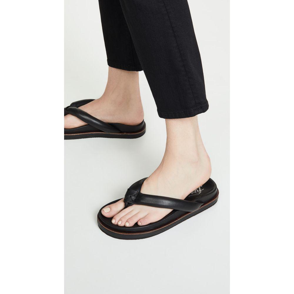 フリーピープル Free People レディース シューズ・靴 ビーチサンダル【Lena Footbed Flip Flops】Black