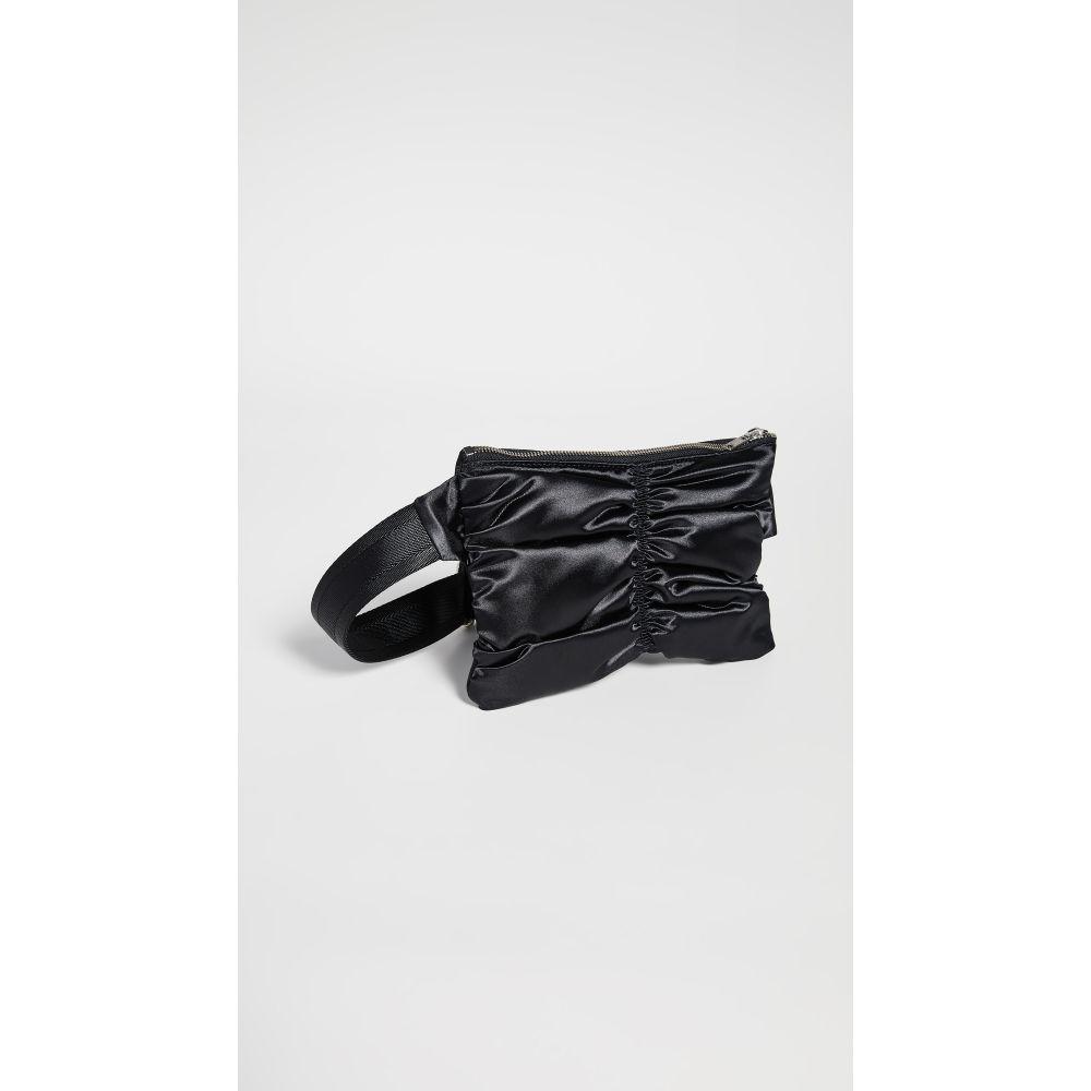 メゾン マルジェラ MM6 Maison Margiela レディース バッグ ボディバッグ・ウエストポーチ【Satin Ruched Fanny Pack】Black