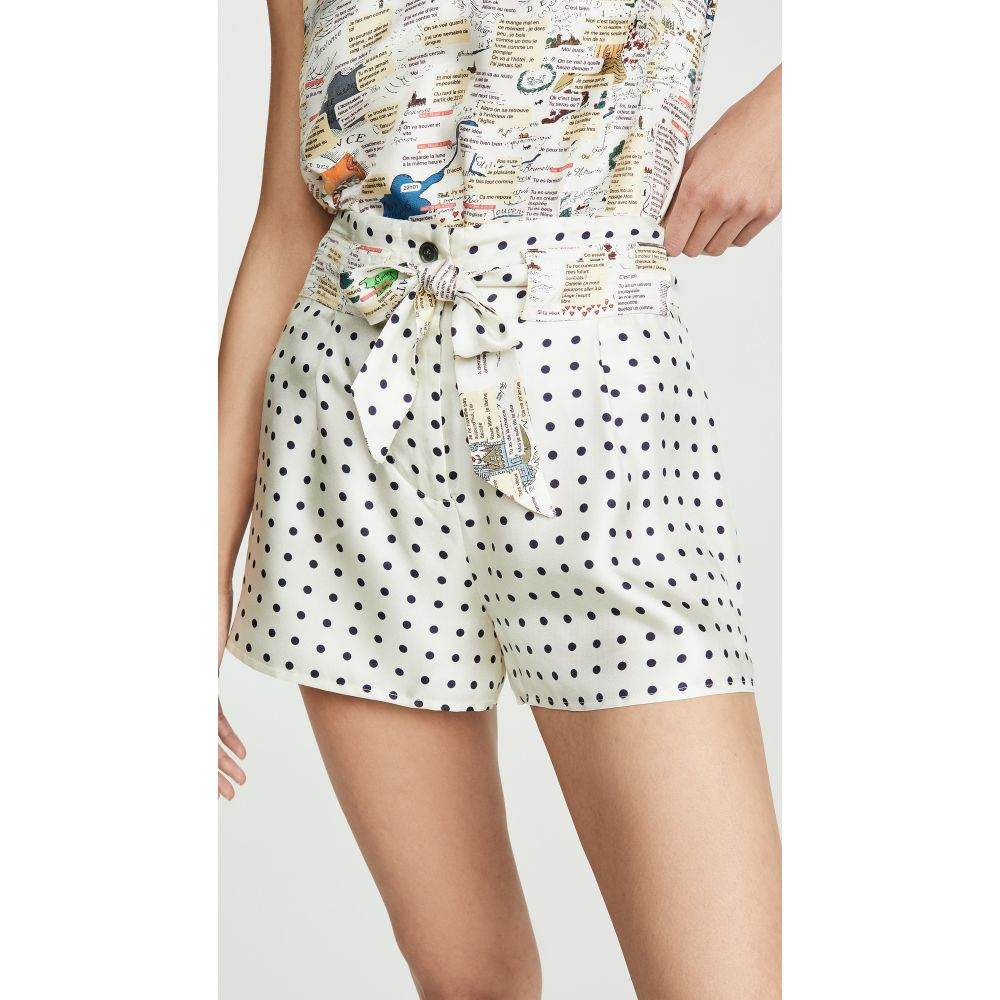 ラ プレスティック ウィストン La Prestic Ouiston レディース ボトムス・パンツ ショートパンツ【Mumbai Polka Dot Shorts】Beige/Black Dots