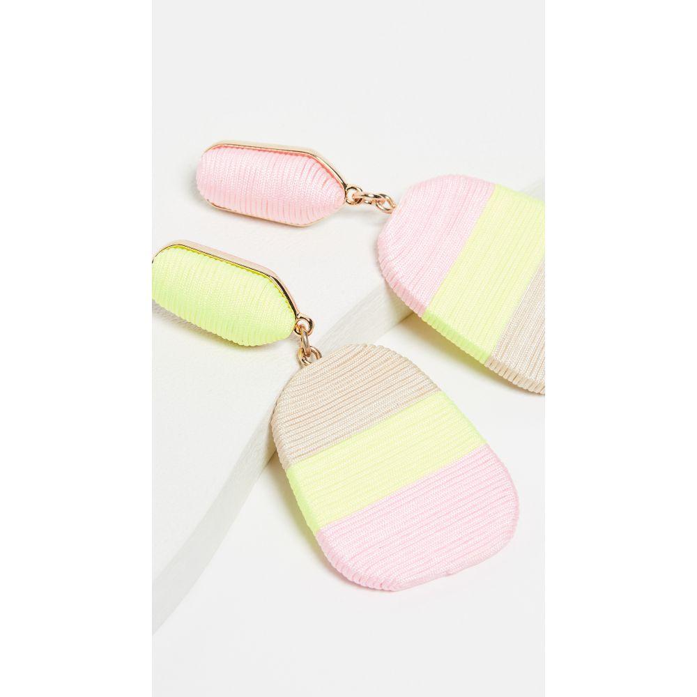 メリージェーン クラベロール MaryJane Claverol レディース ジュエリー・アクセサリー イヤリング・ピアス【Small New Rio Earrings】Neon Yellow/Beige/Light Pink