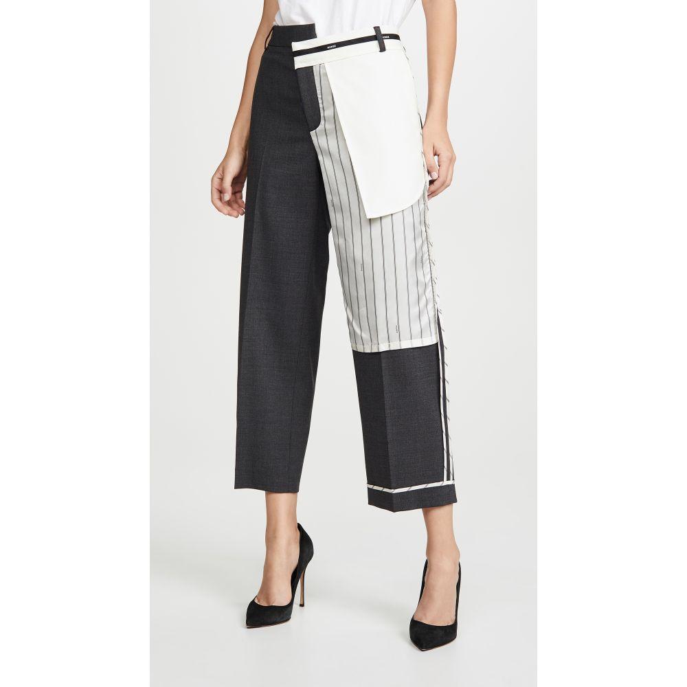 モンス Monse レディース ボトムス・パンツ【Inside Out Pinstripe Pocket Pants】Charcoal