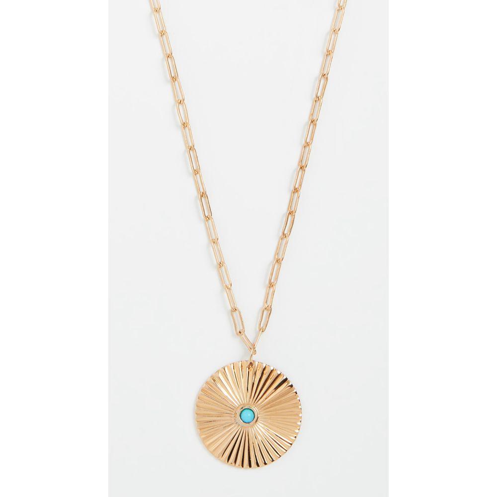 ジェニファーズーナー Jennifer Zeuner Jewelry レディース ジュエリー・アクセサリー ネックレス【Iris Turquoise Pendant Necklace】Gold