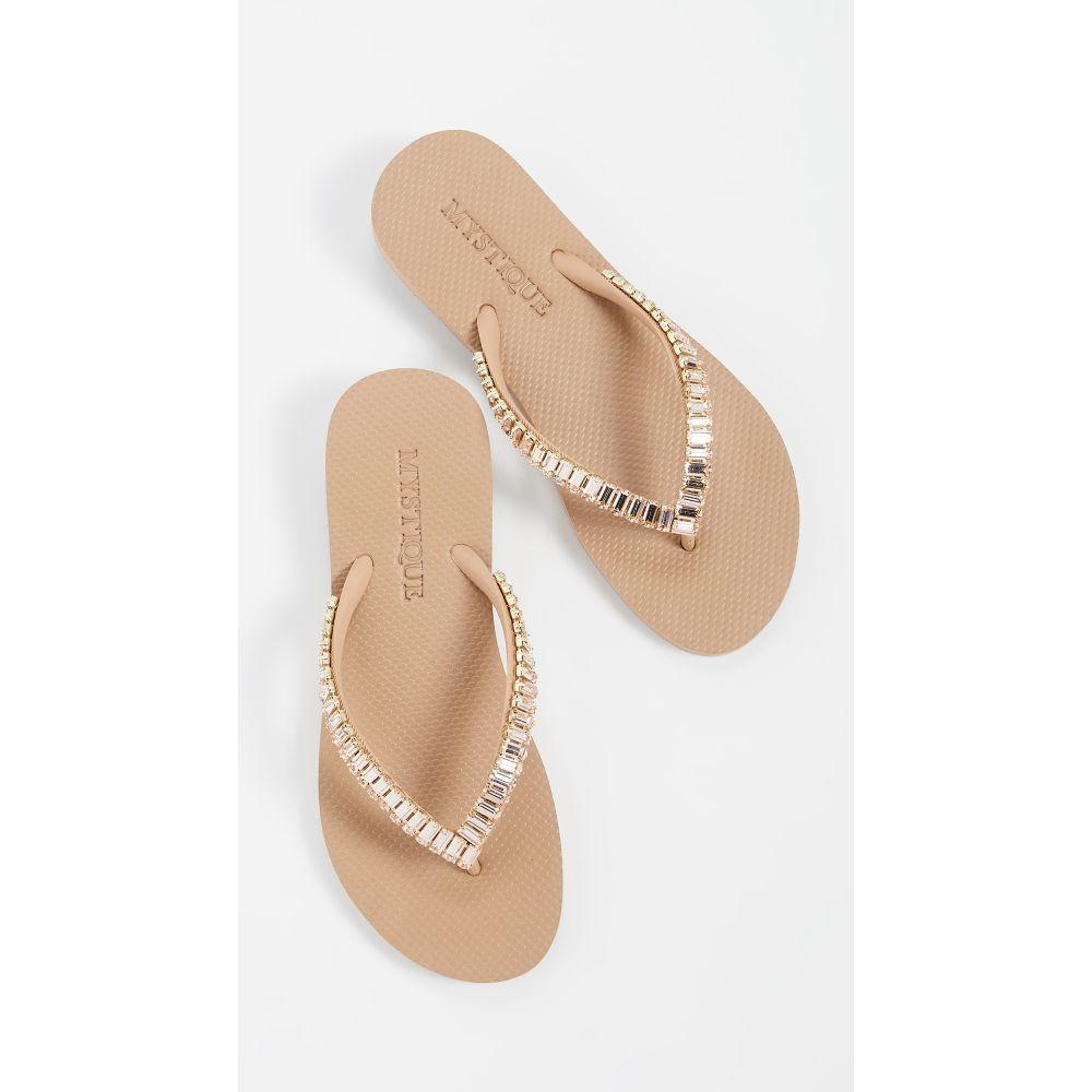 ミスティック Mystique レディース シューズ・靴 ビーチサンダル【Jeweled Flip Flops】Nude/Champagne