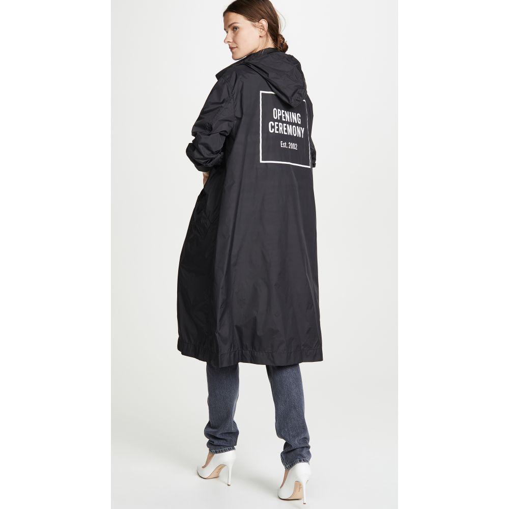 オープニングセレモニー Opening Ceremony レディース アウター トレンチコート【Nylon Logo Trench Coat】Black