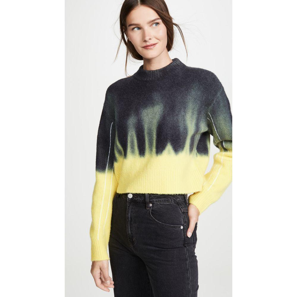プロエンザ スクーラー Proenza Schouler PSWL レディース トップス ニット・セーター【Dip Dye Crew Neck Sweater】Black/Yellow