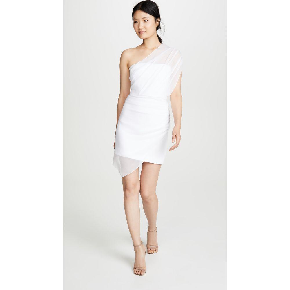 クシュニーエオクス Cushnie レディース ワンピース・ドレス ワンピース【Strapless Mini Dress with Draped Chiffon Overlay】White