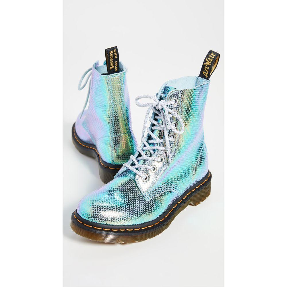ドクターマーチン Dr. Martens レディース シューズ・靴 ブーツ【1460 Pascal 8 Eye Boots】Blue Iridescent