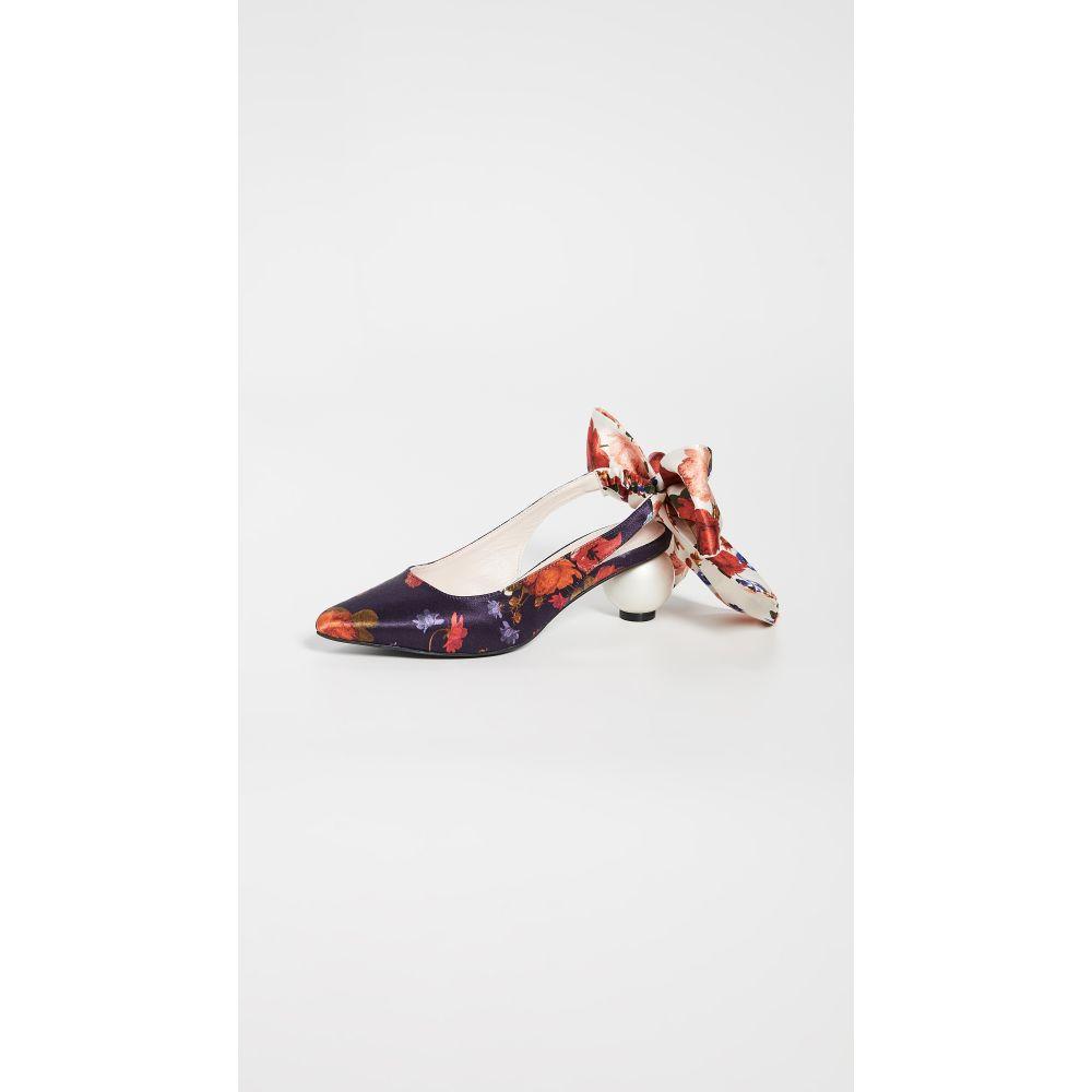 マザー オブ パール Mother of Pearl レディース シューズ・靴 ヒール【Bow Slingback Heels】Navy Floral Mixed