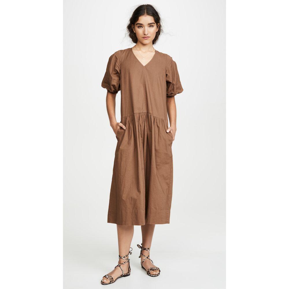 シー Sea レディース ワンピース・ドレス ワンピース【Rumi Short Sleeve Relaxed Midi Dress】Bronze
