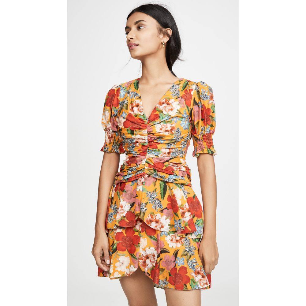 ニコラス Nicholas レディース ワンピース・ドレス ワンピース【Puff Sleeve Pintuck Dress】Tangerine Multi