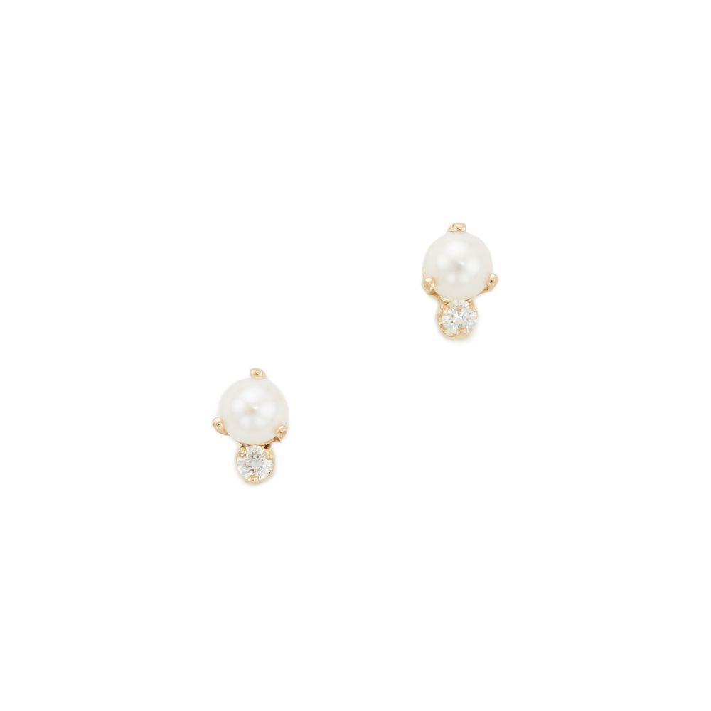 ゾーイ チコ Zoe Chicco レディース ジュエリー・アクセサリー イヤリング・ピアス【14k Gold Diamond Stud Earrings】Gold