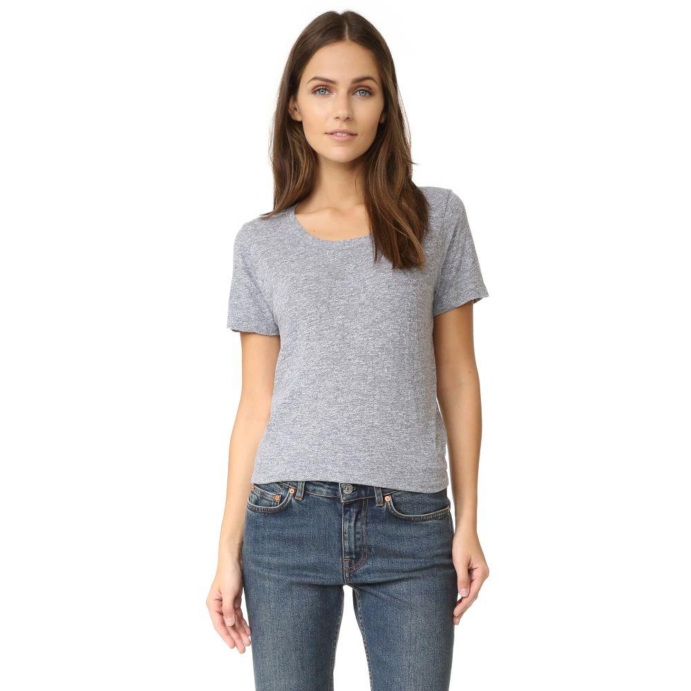 モンロー MONROW レディース トップス Tシャツ【Vintage Jersey Basic Oversized Tee】Granite