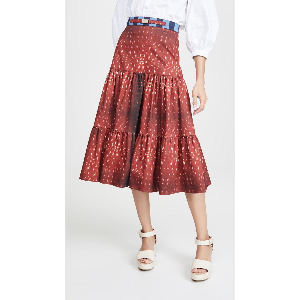 ステラジーン Stella Jean レディース スカート【Fawn Print Skirt】Brown Multi