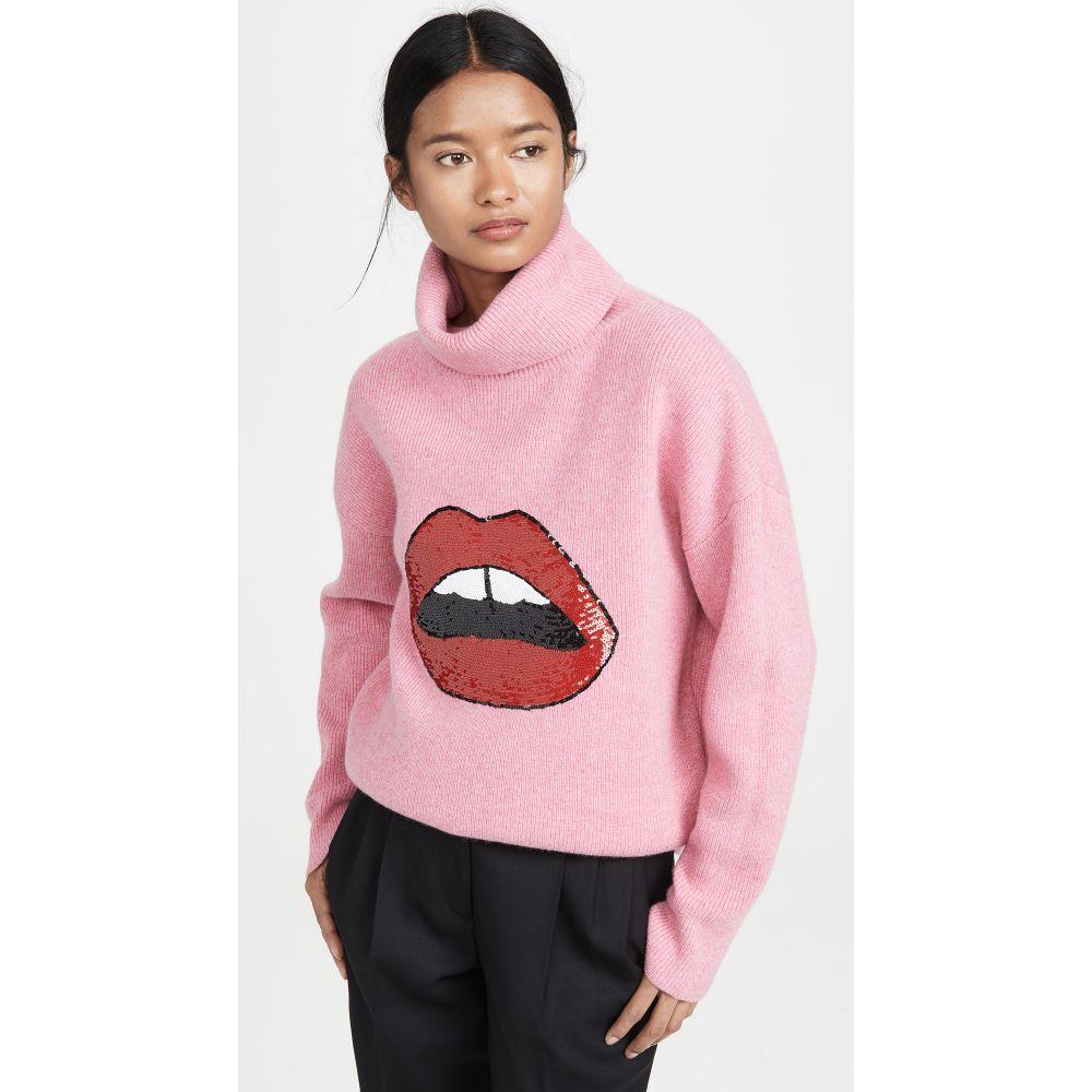 マーカス ルーファー Markus Lupfer レディース トップス ニット・セーター【Elinor Rib Sequin Lip Sweater】Pink