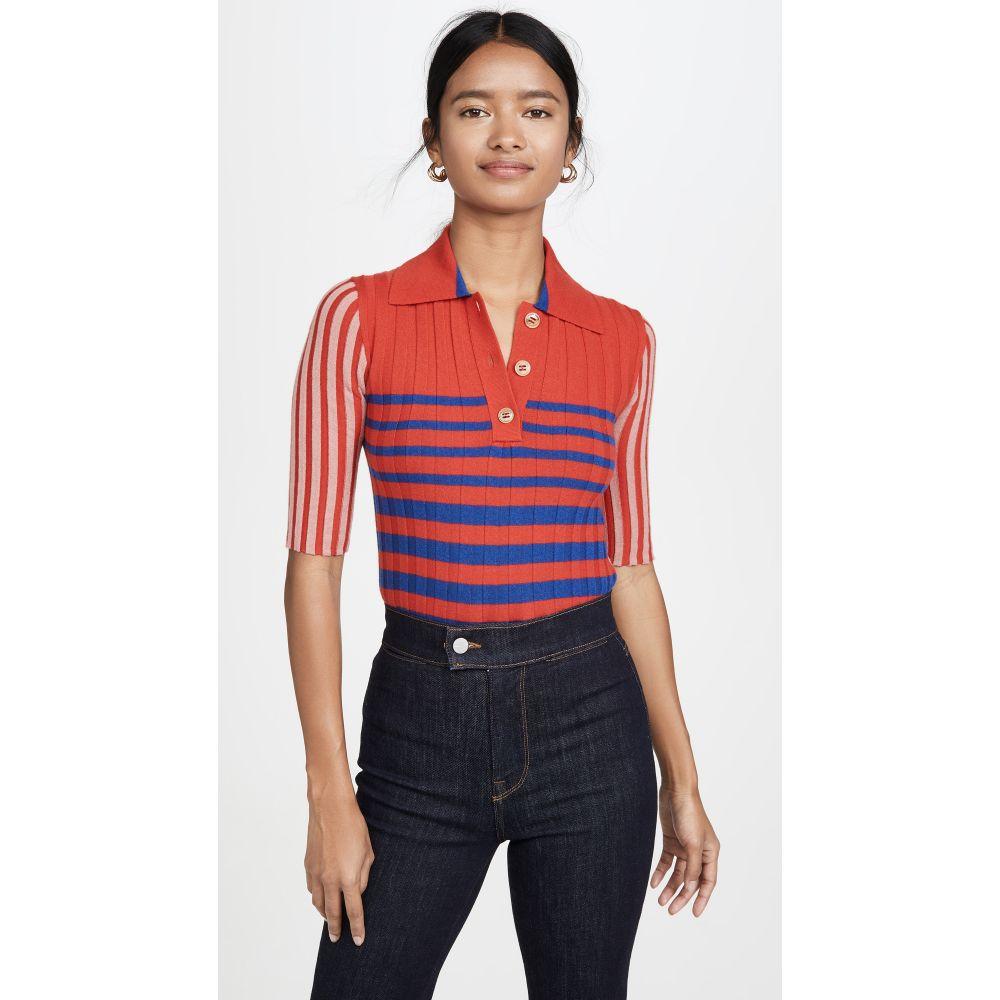 ソニア リキエル Sonia Rykiel レディース トップス ニット・セーター【Collared Striped Cashmere Knit】Red/Blue